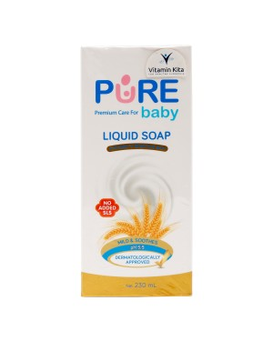 PURE BABY LIQUID SOAP FOR BABY S SENSITIVE SKIN 230 ML