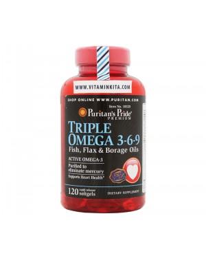Puritans Pride Triple Omega 3-6-9 Fish Flax And Borage Oils (120 Softgels)