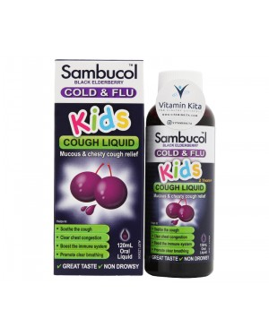 Sambucol Cold And Flu for Kids Cough Liquid (120mL)
