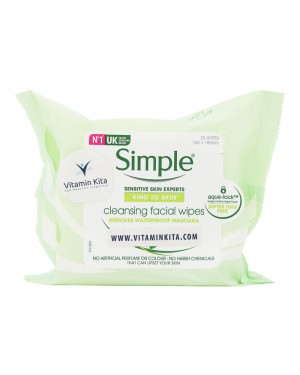 Simple Sensitive Skin Experts Kind To Skin Cleansing Facial Wipes - 25Wipes