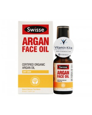 Swisse Argan Face Oil Certified Organic Argan Oil - Dry Oil (20ml)
