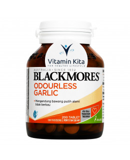 BLACKMORES ODOURLESS GARLIC BPOM KALBE - 200 TAB