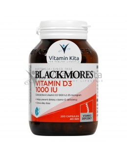 BLACKMORES VITAMIN D3 1000IU (200 CAPS)