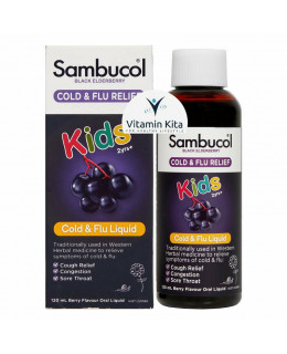 Sambucol Cold And Flu For Kids Black Elderberry Liquid-120 ml