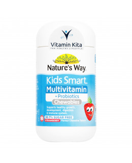 Natures Way Kids Smart Multivitamin Plus Probiotics-50 Chewtab