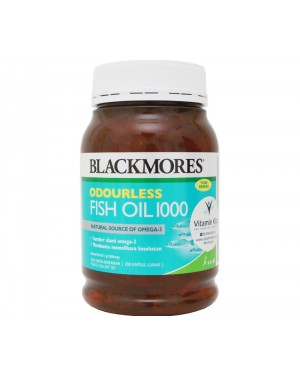 BLACKMORES ODOURLESS FISH OIL 1000 BPOM KALBE - 200 CAPS