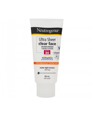 Neutrogena Ultra Sheer Clear Face Sunscreen Liquid Lotion SPF 30 (88ml)