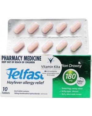 Telfast Hayfever Allergy Reliet 180 mg (10 Tab)