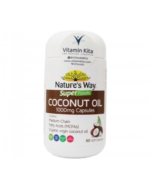 Natures Way Superfoods Coconut Oil 1000mg Capsules (60 Soft Caps)