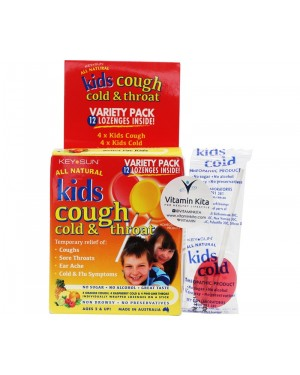 Key Sun All Natural kids Cough Cold & Throat (12 Lozenges)