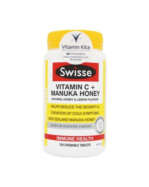 Swisse Ultiboost Vitamin C + Manuka Honey (120ChewTab)