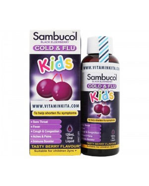 Sambucol Cold & Flu For Kids Tasty Berry Flavour (120 ml)