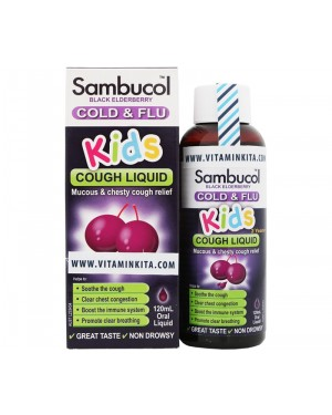 Sambucol Cold & Flu for Kids Cough Liquid (120mL)