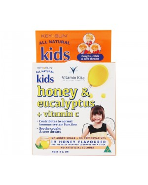 Key Sun All Natural Kids Honey & Eucalyptus + Vitamin C (12 Pastiles)