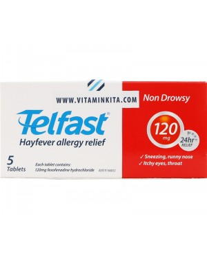 Telfast Hayfever Allergy Relief 120mg (5 Tab)
