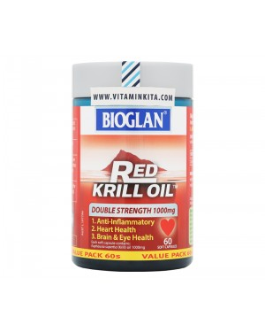 BIOGLAN RED KRILL OIL DOUBLE STRENGTH 1000MG (60 Soft Capsules)