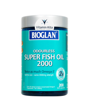 Bioglan Odourless Super Fish Oil 2000-200 Soft Caps