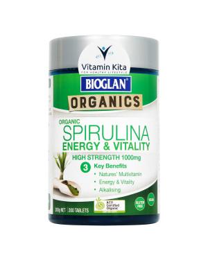 Bioglan Organic Spirulina Energy And Vitality High Strength 1000mg-200 Tabs