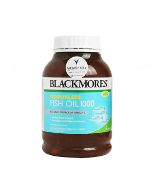 BLACKMORES ODOURLESS FISH OIL 1000 BPOM KALBE - 400 CAPS