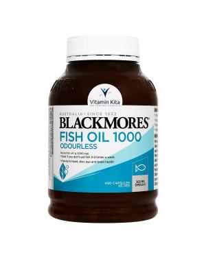 BLACKMORES ODOURLESS FISH OIL 1000 BPOM KALBE - 400 CAPS