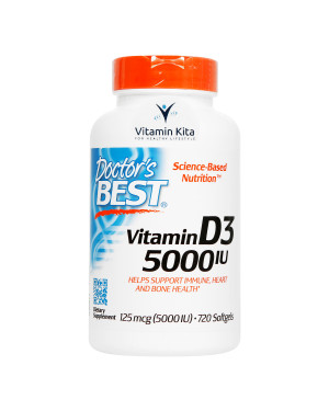Doctor's Best Vitamin D3 125mcg 5000IU-720 Sofgels