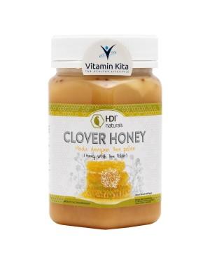 HDI NATURALS CLOVER HONEY WITH BEE POLLEN ORIGINAL 500 gr