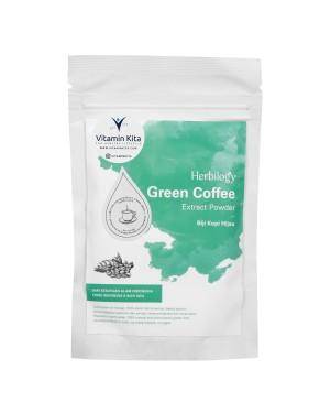 HERBILOGY GREEN COFFEE EXTRACT POWDER 100GR BPOM UNTUK MENURUNKAN BERAT BADAN