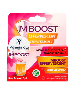 IMBOOST EFFERVESCENT RASA TROPICAL FRUIT 8'S