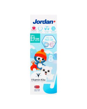 JORDAN KIDS TOOTHPASTE MILK TEETH STEP 1 (0-5 YEARS) 75G
