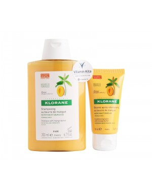 Klorane Nourishing Moment with Mango Butter Nourish Dry Hair in 2 Steps - 1 Pack