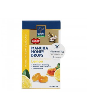 Manuka Health Manuka Honey Drops MGO 400 Lemon - 15 Drops