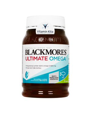 BLACKMORES ULTIMATE OMEGA CONCENTRATED FISH OIL BPOM KALBE - 150 CAPS