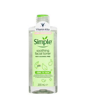 SIMPLE KIND TO SKIN (ALL SKIN TYPE) SOOTHING FACIAL TONER 100% ALCOHOL FREE 200 ML
