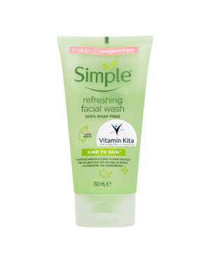 SIMPLE KIND TO SKIN (ALL SKIN TYPE) REFRESHING FACIAL WASH GEL 100% SOAP FREE 150 ML