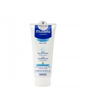 MUSTELA 2 IN 1 CLEANSING GEL HAIR AND BODY BPOM - 200 ML