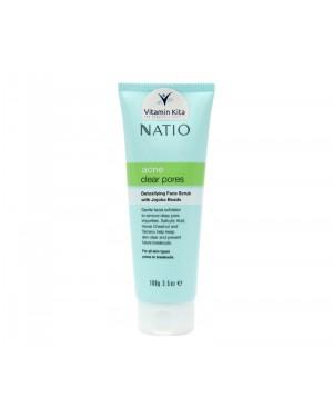 Natio Acne Clear Pores Detoxifying Face Scrub - 100gr