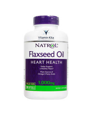 Natrol Flaxseed Oil 1000mg-200Softgels KK