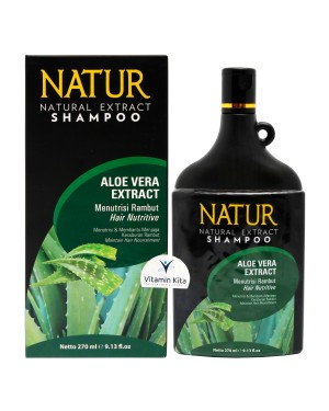 NATUR NATURAL EXTRACT SHAMPOO ALOEVERA EXTRACT 270ML