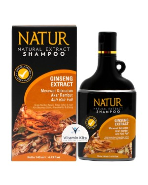 NATUR NATURAL EXTRACT SHAMPOO GINSENG EXTRACT 140ML
