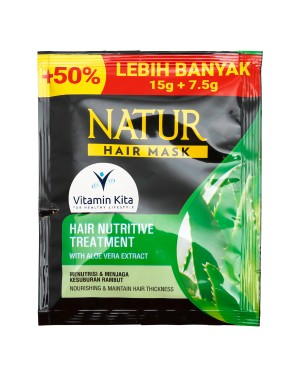 NATUR HAIR MASK NUTRITIVE TREATMENT WITH ALOE VERA EXTRACT 15 GR