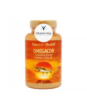 NATURES HEALTH OMEGACOR OMEGA 3 AND FISH OIL BPOM (75 SOFTGEL)