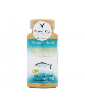NATURES HEALTH VIRGIN SALMON OMEGA 3 FISH OIL (50 SOFTGEL)