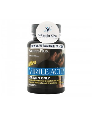 NATURES PLUS ULTRA VIRILE ACTIN FOR MEN BPOM (60 TAB)