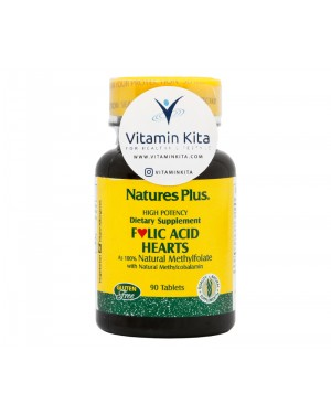 Natures Plus Folic Acid Hearts-90 Tabs