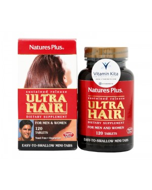 Natures Plus Sustained Release Ultra Hair-120 Tab