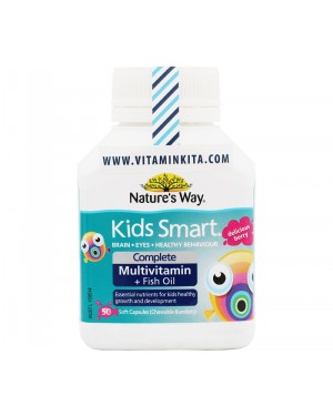 Natures Way Kids Smart Complete Multivitamin + Fish Oil Delicious Berry (50 Caps)