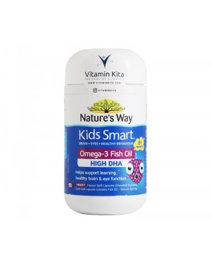 Natures Way Kids Smart Omega 3 Fish Oil Fruity Flavour (50 Caps)