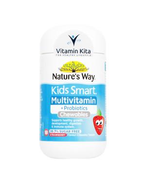 Natures Way Kids Smart Multivitamin Plus Probiotics-50 Chewtab