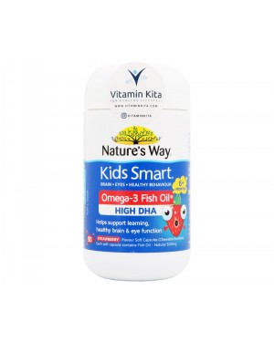 Natures Way Kids Smart Omega 3 Fish Oil Strawberry  (50 Caps)