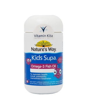 NATURES WAY KIDS SMART SUPA OMEGA 3 FISH OIL FRUITY FLAVOUR-50 SOFTCAPS